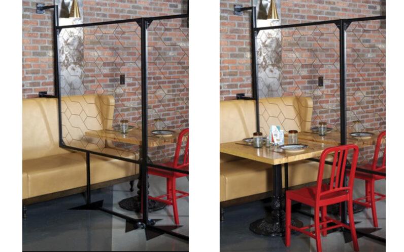 Banquette Partition Plexiglass Rrestaurant Divider