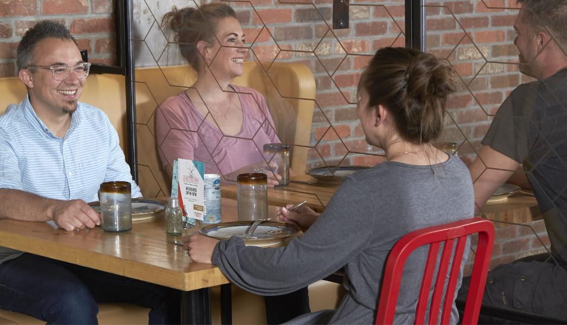 Banquette Plexiglass Divider
